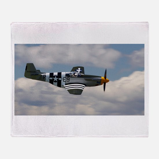 P 51 Mustang Throw Blanket