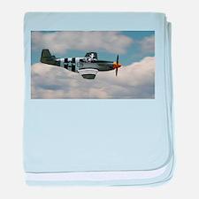 P 51 Mustang baby blanket