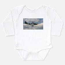 P 51 Mustang Long Sleeve Infant Bodysuit