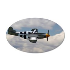P 51 Mustang 22x14 Oval Wall Peel