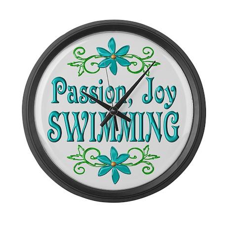 Swimming Joy Large Wall Clock