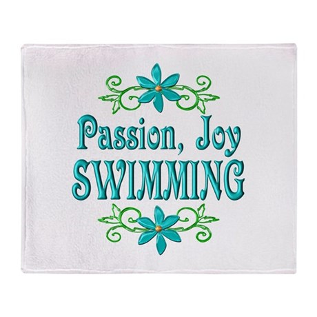 Swimming Joy Throw Blanket