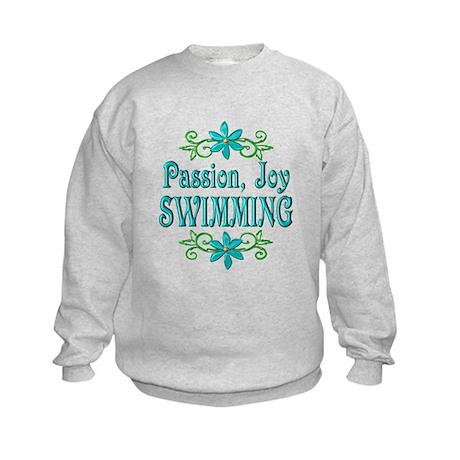 Swimming Joy Kids Sweatshirt