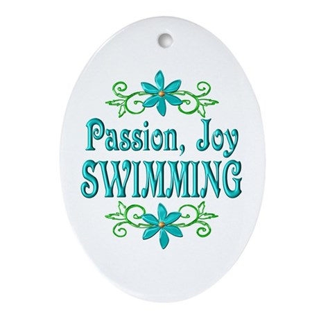 Swimming Joy Ornament (Oval)