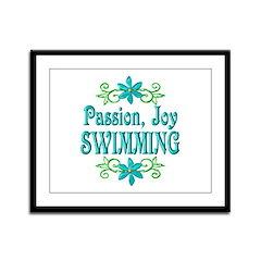 Swimming Joy Framed Panel Print