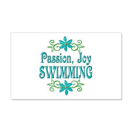 Swimming Joy 22x14 Wall Peel