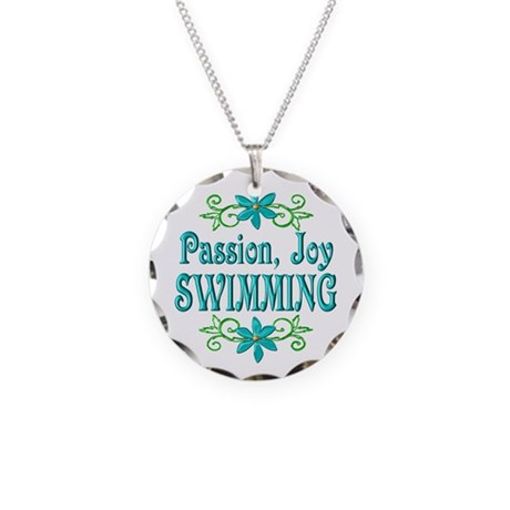 Swimming Joy Necklace Circle Charm
