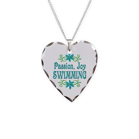 Swimming Joy Necklace Heart Charm