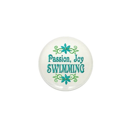 Swimming Joy Mini Button
