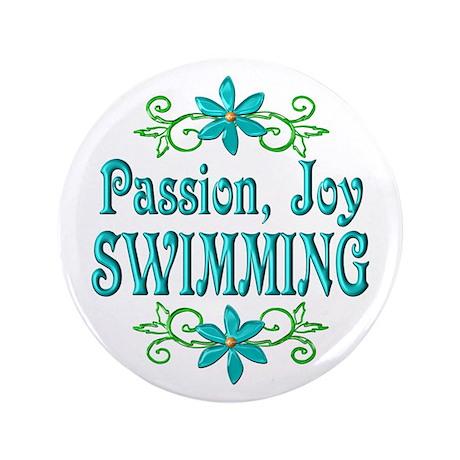 "Swimming Joy 3.5"" Button"