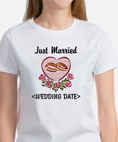 Just Married (Add Your Wedding Date) Women's T-Shi