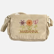 Marianna with cute flowers Messenger Bag