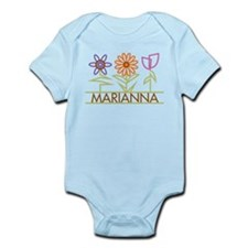 Marianna with cute flowers Infant Bodysuit