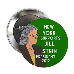 New York Supports Jill Stein for President pin