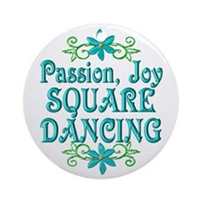 Square Dancing Joy Ornament (Round)