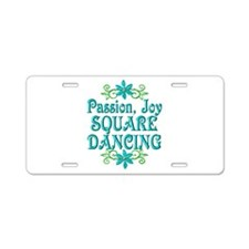 Square Dancing Joy Aluminum License Plate