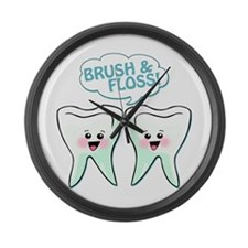 Dentist Dental Hygienist Humor Large Wall Clock