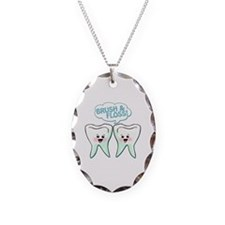 Dentist Dental Hygienist Humor Necklace Oval Charm