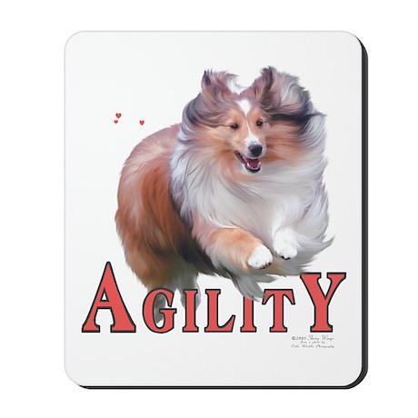 Sheltie Agility Mousepad