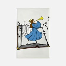 Angel and Book Rectangle Magnet