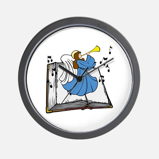 Angel and Book Wall Clock
