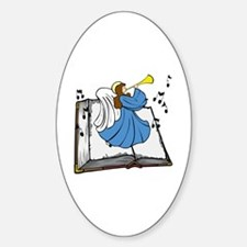 Angel and Book Sticker (Oval)