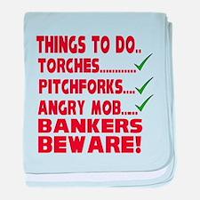 Bankers Beware baby blanket