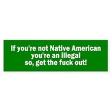 illegal alien... Bumper Bumper Sticker