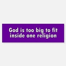 god too big... Bumper Bumper Bumper Sticker