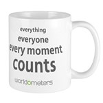 Every moment counts Mug by Worldometers