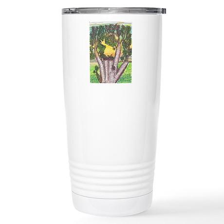 Stainless Steel Travel Mug Yellow Birds Sing ASL I