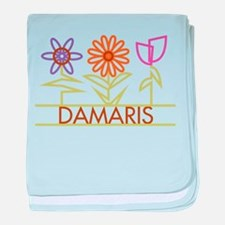 Damaris with cute flowers baby blanket