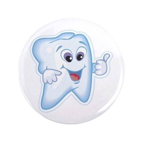 """Great Job Dentists Dental 3.5"""" Button (100 pack)"""