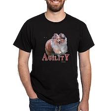 Sheltie Agility Black T-Shirt
