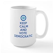 Keep Calm and Vote Democratic Mug