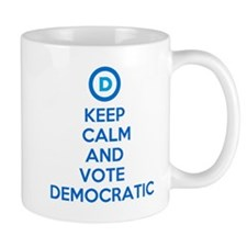 Keep Calm and Vote Democratic Mug