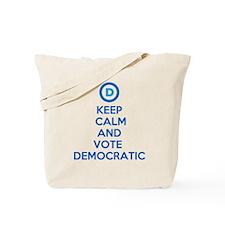 Keep Calm and Vote Democratic Tote Bag