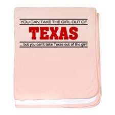 'Girl From Texas' baby blanket