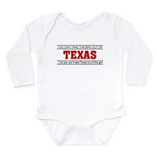 'Girl From Texas' Long Sleeve Infant Bodysuit