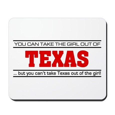 'Girl From Texas' Mousepad