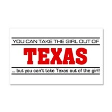 'Girl From Texas' Car Magnet 20 x 12