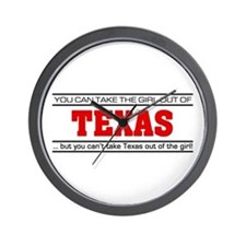 'Girl From Texas' Wall Clock