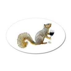 Squirrel with Wine Wall Decal