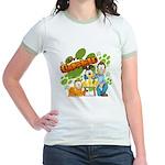 El Show de Garfield Logo Jr. Ringer T-Shirt