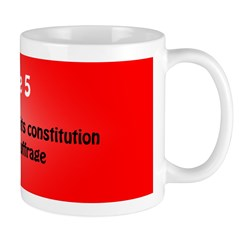 Mug: Denmark amended its constitution to allow wom