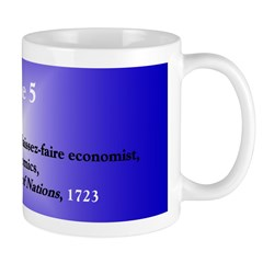 Mug: Adam Smith, Scottish laissez-faire economist,