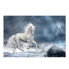 White Unicorn 1 Postcards (Package of 8)