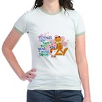 Friends Are There Jr. Ringer T-Shirt