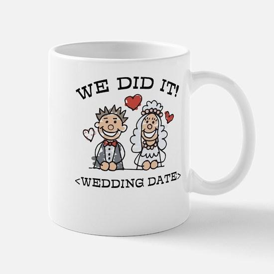Funny Just Married (Add Wedding Date) Mug