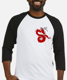 Dragon in Red Baseball Jersey
